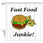 Fast Food Junkie Shower Curtain