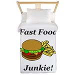 Fast Food Junkie Twin Duvet