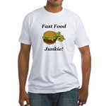 Fast Food Junkie Fitted T-Shirt