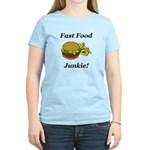 Fast Food Junkie Women's Light T-Shirt