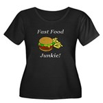 Fast Food Junkie Women's Plus Size Scoop Neck Dark