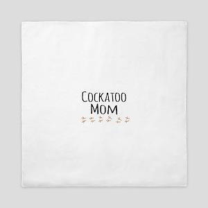 Cockatoo Mom Queen Duvet