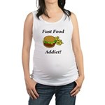 Fast Food Addict Maternity Tank Top