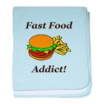 Fast Food Addict baby blanket