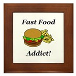 Fast Food Addict Framed Tile