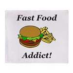 Fast Food Addict Throw Blanket