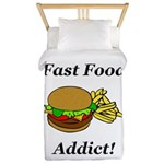 Fast Food Addict Twin Duvet