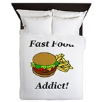 Fast Food Addict Queen Duvet