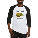Fast Food Addict Baseball Jersey