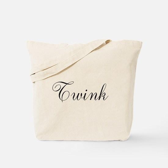 Twink Black Script Tote Bag