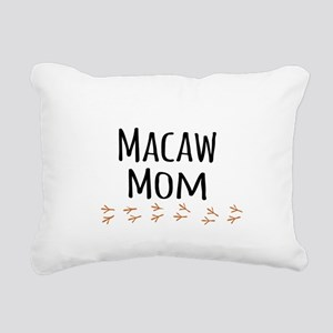 Macaw Mom Rectangular Canvas Pillow