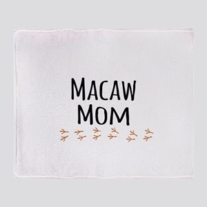 Macaw Mom Throw Blanket