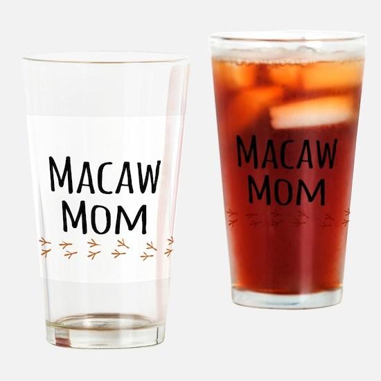 Macaw Mom Drinking Glass