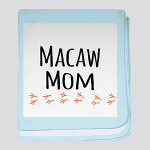 Macaw Mom baby blanket