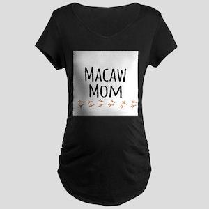 Macaw Mom Maternity T-Shirt