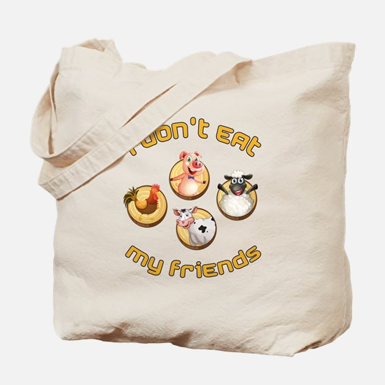 Funny Animal rights Tote Bag