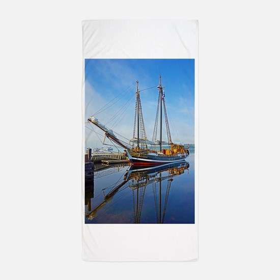 Tall Ship Larinda Beach Towel