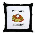 Pancake Junkie Throw Pillow