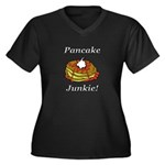 Pancake Junk Women's Plus Size V-Neck Dark T-Shirt