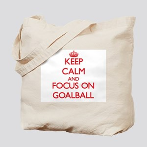 Keep calm and focus on Goalball Tote Bag