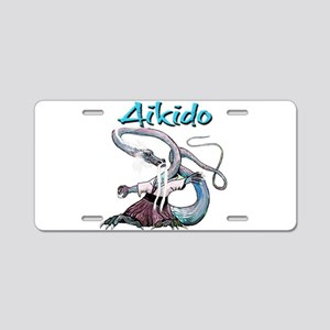 Aikido Dragon Aluminum License Plate