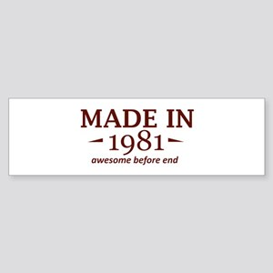 Made in 1981 Sticker (Bumper)
