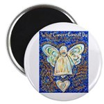 Blue & Gold Cancer Angel Magnet