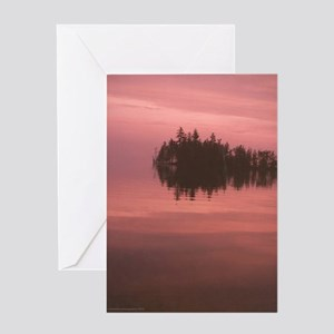 Moosehead Lake at dawn Greeting Card