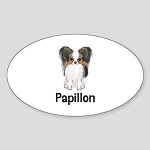 Papillon (word) Sticker (Oval)