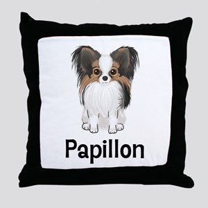Papillon (word) Throw Pillow