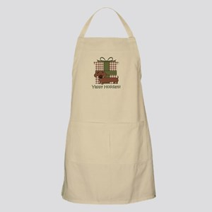 Yappy Holidays Dachshund and Gifts Apron