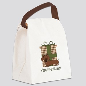 Yappy Holidays Dachshund and Gifts Canvas Lunch Ba