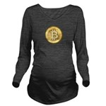 Bitcoin Long Sleeve Maternity T-Shirt