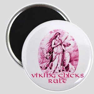 Viking Chicks Rule Magnet