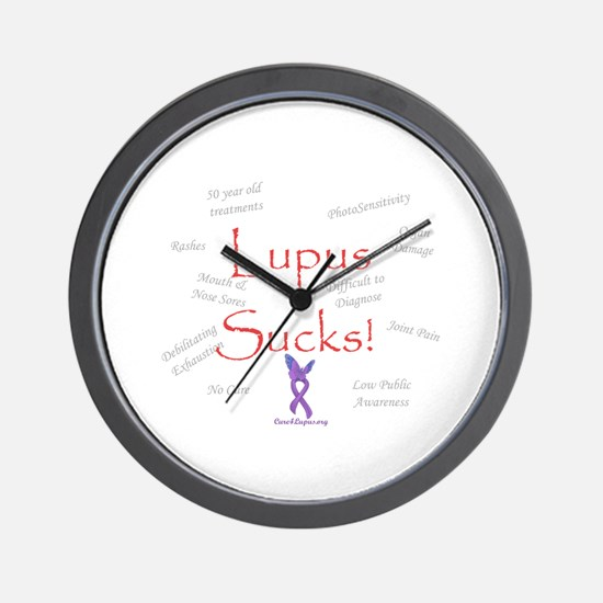 Lupus Sucks Wall Clock