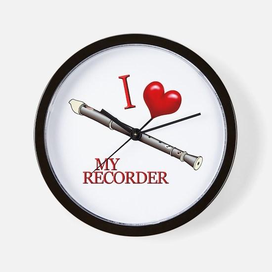 I Love My RECORDER Wall Clock