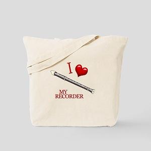 I Love My RECORDER Tote Bag