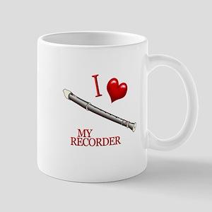 I Love My RECORDER Mug