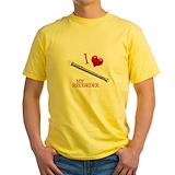 Recorder Mens Classic Yellow T-Shirts