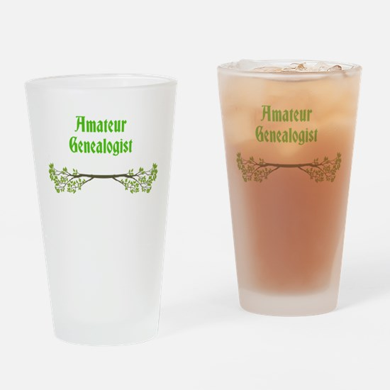 Amateur Genealogist Drinking Glass