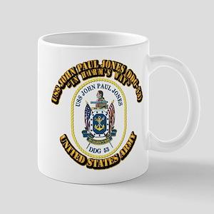 USS John Paul Jones (DDG-53) With text Mug