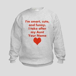 Smart Cute And Funny Aunt (Custom) Sweatshirt
