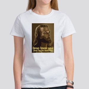 Jesus Loves You, But I'm His Ash Grey T-Shirt