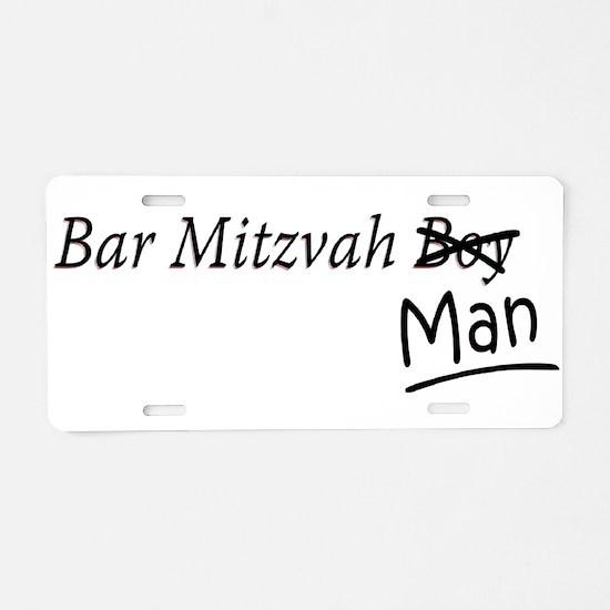 Funny Bar-Mitzvah B... Aluminum License Plate