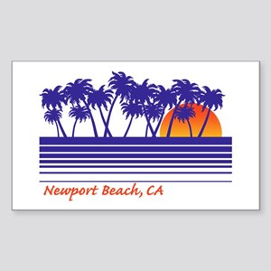 Newport Beach California Rectangle Sticker