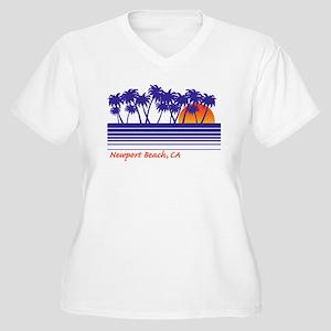 Newport Beach California Women's Plus Size V-Neck