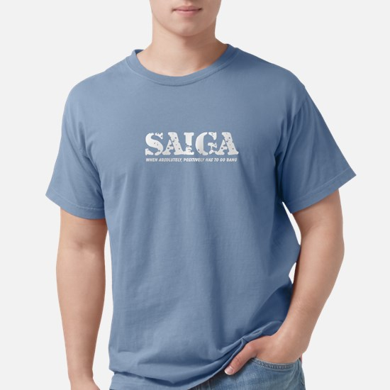 10x10 Shirt_SAIGA bang white T-Shirt