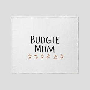 Budgie Mom Throw Blanket
