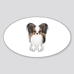 Papillon (pic) Sticker (Oval)