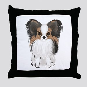 Papillon (pic) Throw Pillow